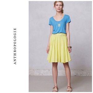 Anthropologie Stellina skirt - yellow